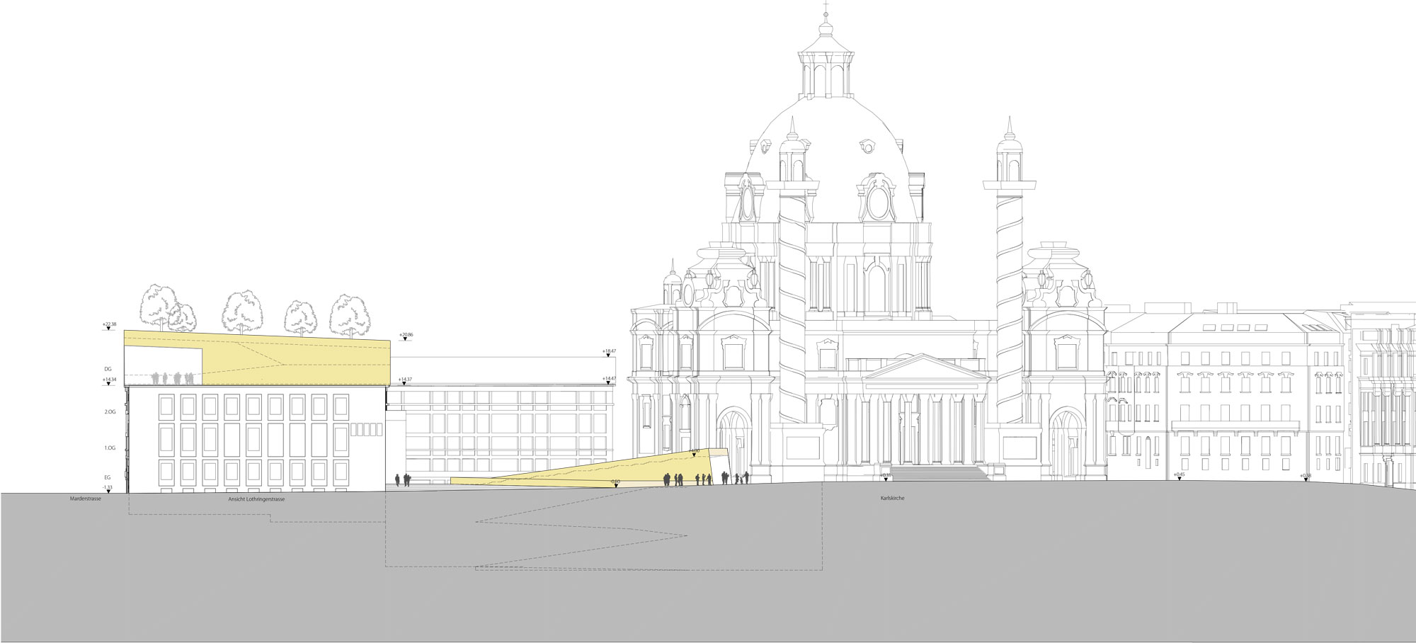 Entwurfspläne Wettbewerb Wien Museum